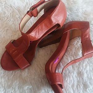 Nine West Rust T-strap Sandal
